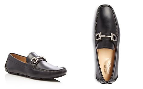 Salvatore Ferragamo Men's Parigi Double Gancini Bit Suede Loafers - Bloomingdale's_2