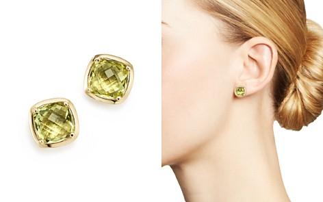 Lemon Quartz Square Stud Earrings in 14K Yellow Gold - 100% Exclusive - Bloomingdale's_2