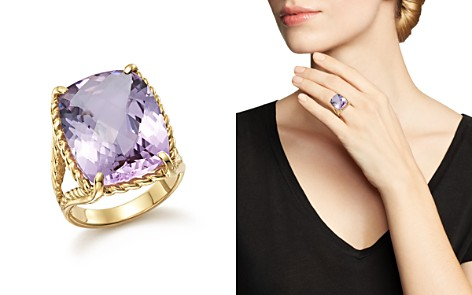 Lavender Amethyst Rectangular Statement Ring in 14K Yellow Gold - 100% Exclusive - Bloomingdale's_2