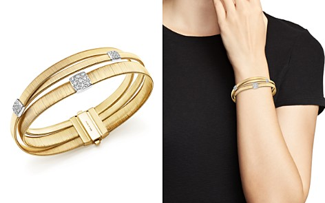 Marco Bicego 18K Yellow Gold Masai Three Strand Crossover Diamond Bracelet - Bloomingdale's_2