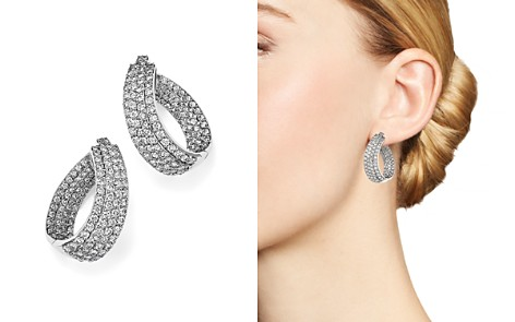 Diamond Multi Row Inside Out Oval Hoop Earrings in 14K White Gold, 4.70 ct. t.w. - 100% Exclusive - Bloomingdale's_2