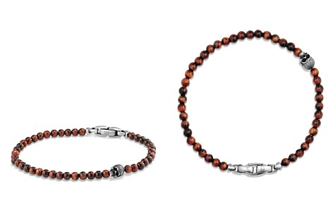 David Yurman Spiritual Beads Skull Bracelet with Red Tiger's Eye in Sterling Silver - Bloomingdale's_2