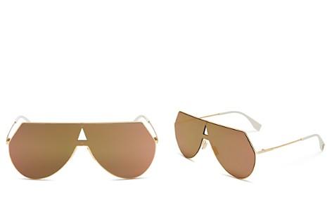 Fendi Eyeline Mirrored Shield Sunglasses, 55mm - Bloomingdale's_2