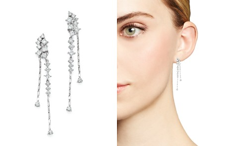 Diamond Cascade Drop Earrings in 14K White Gold, 1.25 ct. t.w. - 100% Exclusive - Bloomingdale's_2