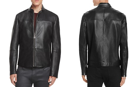 HUGO Lefox Leather Moto Jacket - Bloomingdale's_2