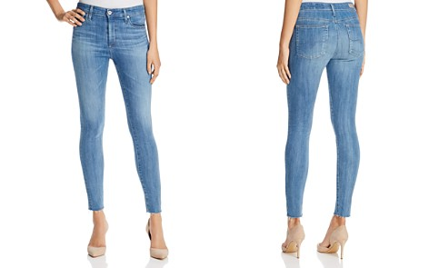 AG Farrah Raw Hem Skinny Ankle Jeans in Ceased Wind - Bloomingdale's_2