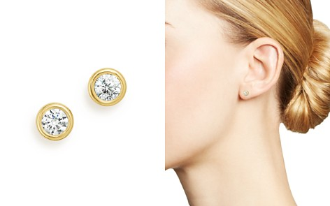Diamond Bezel Stud Earrings in 14K Yellow Gold, .33-1.0 ct. t.w. - 100% Exclusive - Bloomingdale's_2