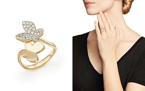 Diamond Butterfly Ring in 14K Yellow Gold, .50 ct. t.w. - 100% Exclusive - Bloomingdale's_2