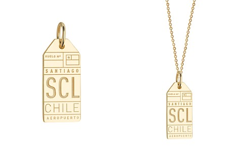 Jet Set Candy SCL Santiago Chile Luggage Tag Charm - Bloomingdale's_2