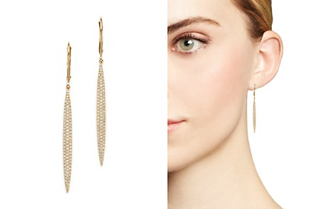 Diamond Micro Pavé Drop Earrings in 14K Yellow Gold, .65 ct. t.w. - 100% Exclusive - Bloomingdale's_2