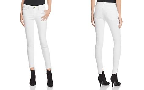 FRAME Le Skinny De Jeanne Raw Stagger Jeans in Blanc - Bloomingdale's_2