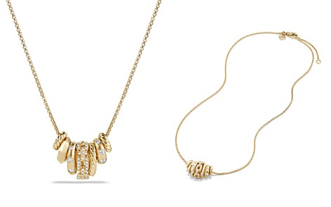 David Yurman Stax Rondelle Pendant Necklace with Diamonds in 18K Gold - Bloomingdale's_2