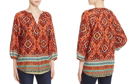 BeachLunchLounge Helena Tribal Border Print Blouse - 100% Exclusive - Bloomingdale's_2