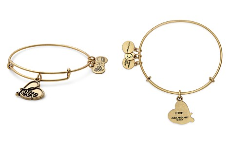 Alex and Ani Love Charm Expandable Wire Bangle - Bloomingdale's_2