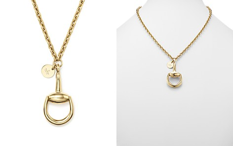"""Gucci 18K Yellow Gold Horsebit Necklace, 16.9"""" - Bloomingdale's_2"""