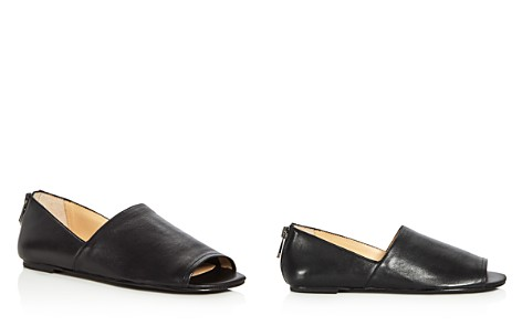 Botkier Maxine Leather Open Toe Flats - Bloomingdale's_2