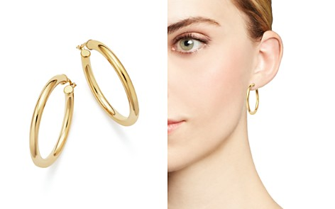 Bloomingdale's 14K Yellow Gold Tube Hoop Earrings - 100% Exclusive_2
