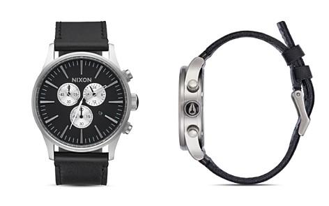 Nixon Sentry Chono Leather Watch, 42mm - Bloomingdale's_2
