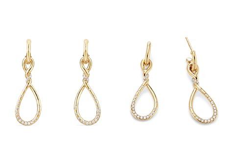 David Yurman Continuance Medium Drop Earrings with Diamonds in 18K Gold - Bloomingdale's_2