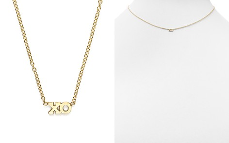 """Zoë Chicco 14K Yellow Gold Itty Bitty Tiny XO Necklace, 16"""" - Bloomingdale's_2"""