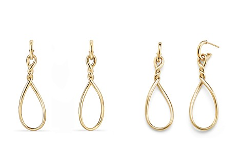 David Yurman Continuance Large Drop Earrings in 18K Gold - Bloomingdale's_2