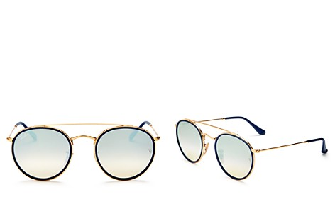 Ray-Ban Unisex Mirrored Brow Bar Round Sunglasses, 50mm - Bloomingdale's_2
