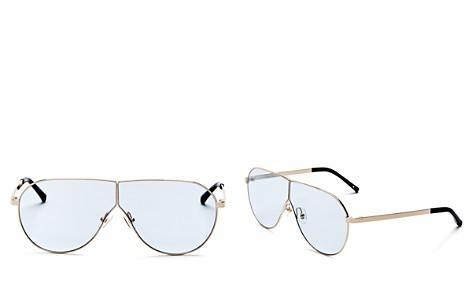 3.1 Phillip Lim Women's Shield Aviator Sunglasses, 70mm - Bloomingdale's_2