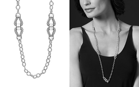 "LAGOS Sterling Silver Derby Caviar Link Necklace, 34"" - Bloomingdale's_2"