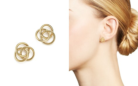14K Yellow Gold Large Love Knot Stud Earrings - 100% Exclusive - Bloomingdale's_2