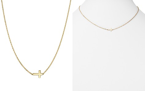 """14K Yellow Gold Small Cross Necklace, 18"""" - 100% Exclusive - Bloomingdale's_2"""