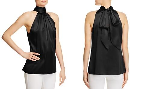Ramy Brook Paige Tie Neck Silk Top - Bloomingdale's_2
