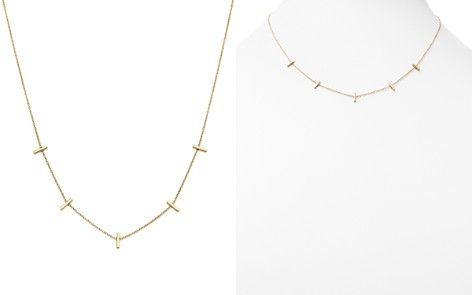 "Zoë Chicco 14K Yellow Gold Bar Station Necklace, 16"" - Bloomingdale's_2"