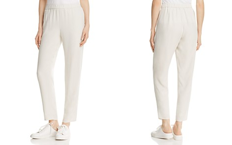Eileen Fisher System Slouchy Silk Ankle Pants - Bloomingdale's_2