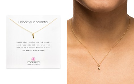 "Dogeared Unlock Your Potential Necklace, 16"" - Bloomingdale's_2"