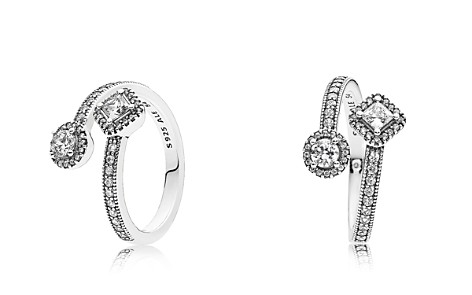 PANDORA Sterling Silver & Cubic Zirconia Abstract Elegance Ring - Bloomingdale's_2