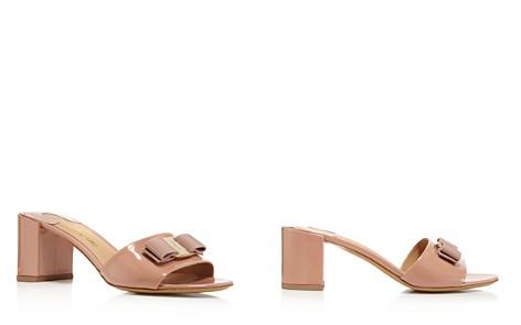 Salvatore Ferragamo Women's Eolie Patent Leather Block Heel Slide Sandals - Bloomingdale's_2
