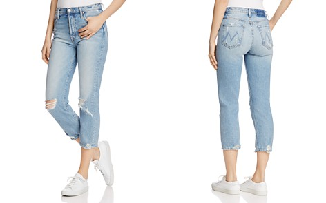 MOTHER The Tomcat Distressed Crop Jeans in The Confession - Bloomingdale's_2