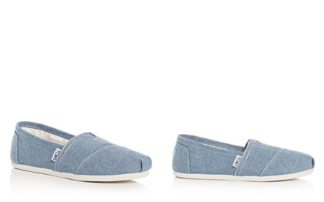 TOMS Women's Chambray Alpargata Flats - Bloomingdale's_2