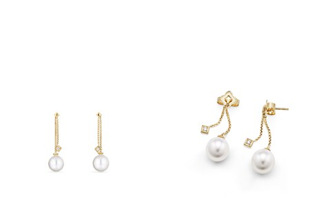 David Yurman Solari Drop Ear Jackets in 18K Gold with Diamonds and Cultured South Sea Pearl - Bloomingdale's_2