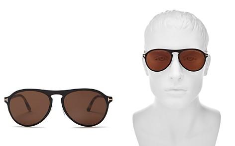 Tom Ford Men's Bradburry Aviator Keyhole Sunglasses, 56mm - Bloomingdale's_2