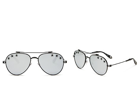Givenchy Embellished Mirrored Brow Bar Aviator Sunglasses, 58mm - Bloomingdale's_2