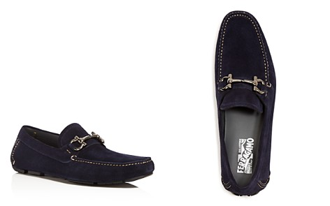 Salvatore Ferragamo Men's Parigi Double Gancini Bit Suede Loafers - Bloomingdale's_2