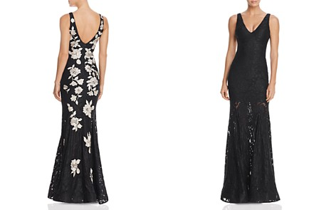 Avery G Embroidered-Back Lace Gown - Bloomingdale's_2