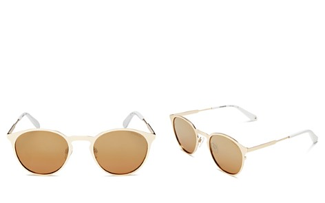 Polaroid Mirrored Polarized Round Sunglasses, 50mm - Bloomingdale's_2