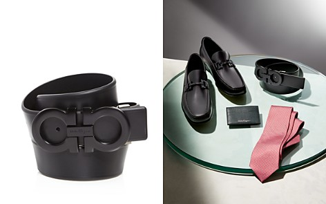 Salvatore Ferragamo Smooth Reversible Belt with Shiny Gunmetal-Tone Double Gancini Buckle - Bloomingdale's_2