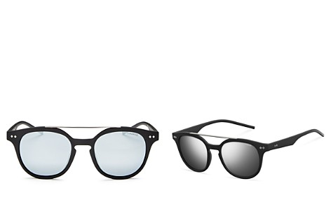 Polaroid Men's Polarized Mirrored Brow Bar Round Sunglasses, 51mm - Bloomingdale's_2