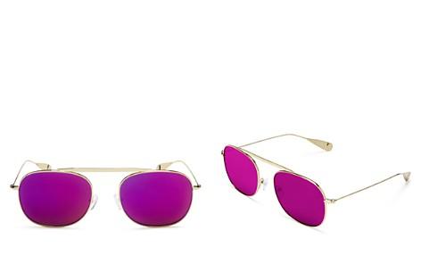 Lyndon Leone Women's James Mirrored Aviator Sunglasses, 56mm - 100% Exclusive - Bloomingdale's_2