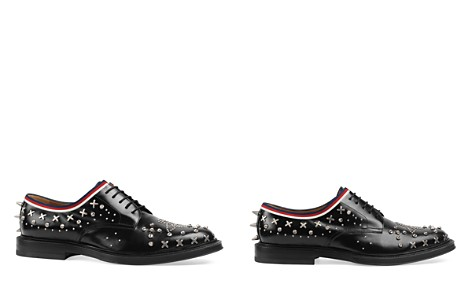Gucci Leather Lace-Up Derby Shoes with Studs - Bloomingdale's_2