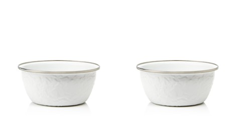 Golden Rabbit White Enamel Salad Bowl - Bloomingdale's_2