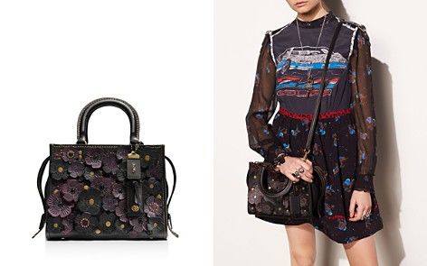 COACH 1941 Rogue 25 in Glovetanned Pebble Leather with Tea Roses - Bloomingdale's_2